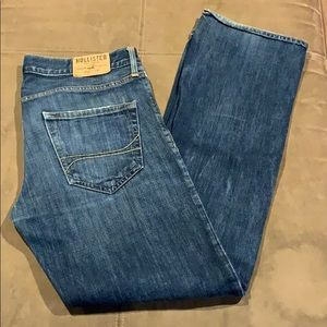 Men's Hollister Button Fly Straight Jeans 30 30x32